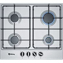 Balay 3ETX664MB Integrado Encimera de gas Acero inoxidable hobs - Placa (Integrado, Encimera de gas, Acero inoxidable, Acero inoxidable, 1000 W, 1750 W)