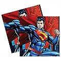16DC Bande dessinée Superman super-héros de fête pour enfant 33cm jetables Serviettes en papier