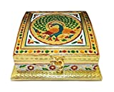 #9: Houzzplus Hadicraft Dry Fruit Box Serving Tray - Diwali Gift - Dry Fruit Container - 4 compartment