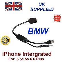 Nuevo cable para BMW INTEGRADO para iPhone 5 5c 5s 6 6s 6 Plus 6s Y para BMW Series 1, 3, 5, 6, 7, Z4, X1, X3, X5, X6 cable digital