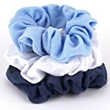Elite Models (France) Fashion Hair Scrunchies For Women/A Premium Scrunchy Rubber Band To Tie Hairs - (7 x 4 x 12.9 cm ; 18 g, Black Color)