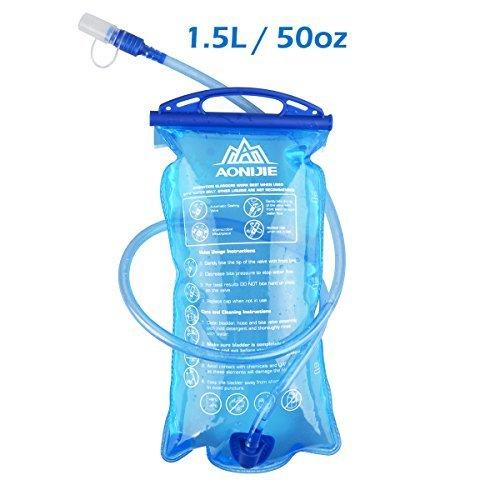 Triwonder 1.5-2-3L depósito de agua de vejiga de hidratación libre de BPA para montar en bicicleta senderismo mochila de camping (1.5L / 50oz)