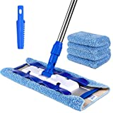 MR.SIGA Professional Microfiber Mop for Hardwood, Laminate, Tile Floor Cleaning, Stainless Steel Handle