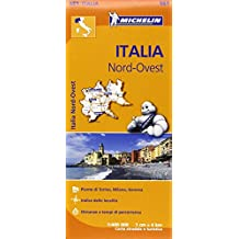 Italy North West Map (Michelin Regional Map)