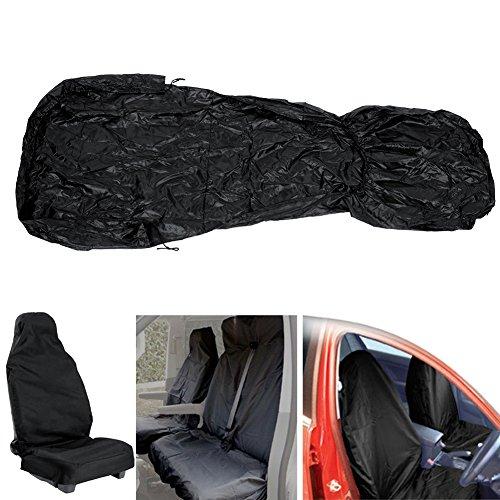 Auntwhale-OEM-universale-2-pezzi-neri-Veicolo-Veicolo-Van-Auto-in-nylon-impermeabile-Coprisedili-anteriori-Protezioni-pesanti