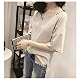 TAIDUJUEDINGYIQIE Frauen Kurzarm T-Shirt Sommer Solid Color Lose Kurzarm -
