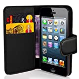 Apple iPhone 4 / 4S Black Wallet Case Co...