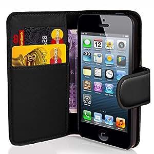 Supergets Flipcase für Apple iPhone 4 / 4S (Brieftaschendesign, inkl. Displayschutzfolie, Bedienstift und Reinigungstuch) I love BLACK color
