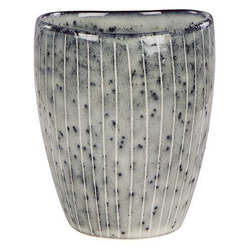Schwarz Sand Durch Keramik (Broste Copenhagen Nordic Sea Tasse ohne Henkel Mug grau/blau/braun/schwarz 250 ml Cafetasse Trinktasse nordisch skandinavisches Design spülmaschinenfest Keramik)