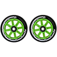 Pair Team Dogz Nylon Core Scooter Wheels 100mm With ABEC 7 Bearings in Black Orange Blue Green Pink Fits Slamm Razor MGP Grit and JD Bug