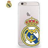 Carcasa Funda IPhone 6 Plus / 6s Plus Licencia Fútbol Real Madrid Transparente Escudo