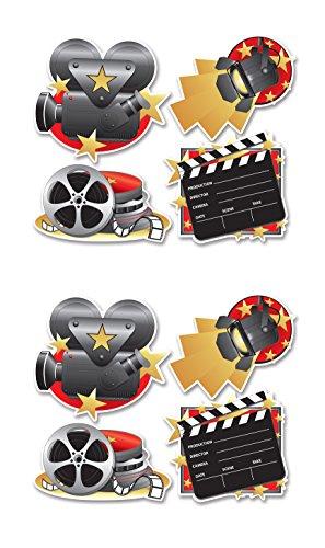 Beistle s54155az2, Film Set 8teilig Aussparungen, 37,5cm–41,9cm