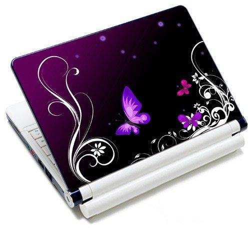 MySleeveDesign Notebook Skin Aufkleber Folie Sticker für Geräte der Größe 10,2 Zoll / 11,6 - 12,1 Zoll / 13,3 Zoll / 14 Zoll / 15,4 - 15,6 Zoll mit VERSCH. DESIGNS - Butterfly Light