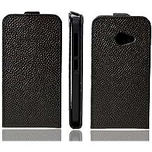 caseroxx funda Flip Cover para Acer Liquid Z220, Carcasa con flip para el smartphone (flip case en negro)