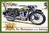 ComCard BSA Motorrad Masterpiece of Industry Schild aus Blech Tin Sign