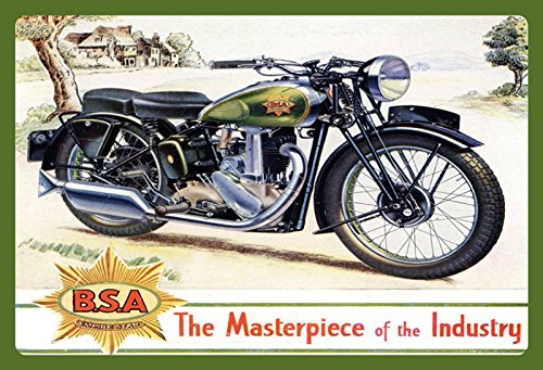 ComCard BSA Motorrad Masterpiece of Industry Schild aus Blech Tin Sign