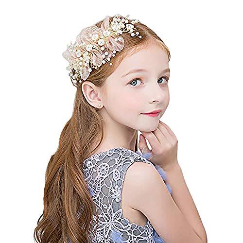 TOOGOO M?dchen Blumen Kranz Kopfbedeckungen Handgemachte Justierbare Halo Blumen Kronen Haar Blume (Herzstück Kranz)