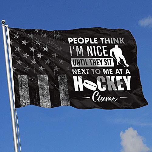 Elaine-Shop Abgenutzte Flaggen im Freien USA Flag Hockey Spiel 4 * 6 Ft Flagge für Wohnkultur Sport Fan Fußball Basketball Baseball Hockey