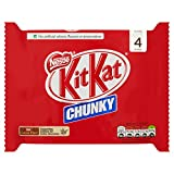 KitKat Chunky Milk Chocolate Bar, 40g (Pack of 4)