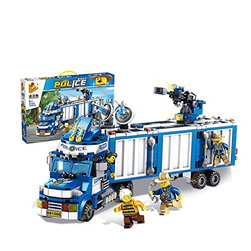 Yyz Polizei Serie Multifunktions Polizei Container Truck Kinder Puzzle Kampf zum Einfügen von Bausteinen Spielzeug Geburtstagsgeschenk