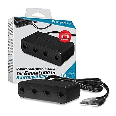 Hyperkin 4-Port GameCube Controller Adapter for Wii U/ PC/ Mac by Hyperkin Inc
