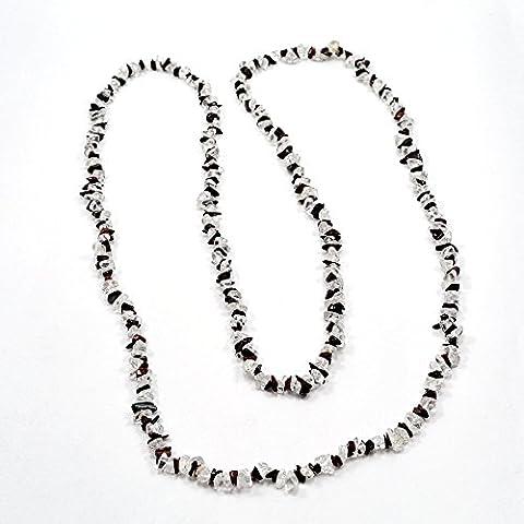 silvesto India diaspro rosso con cristallo di quarzo collana di corda per le donne PG 9210