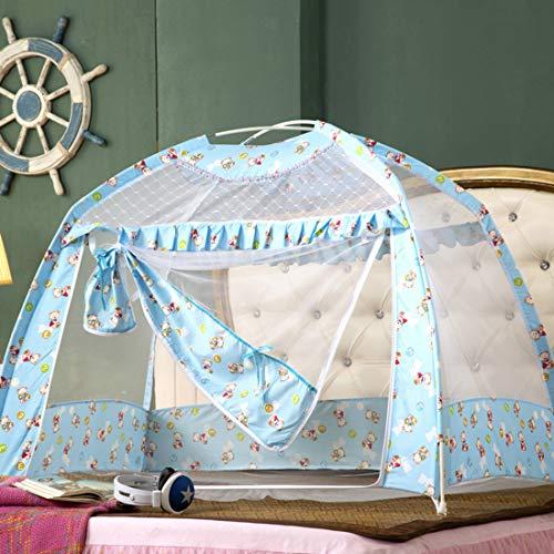 herheits-Pop-Up-Zelt: Baby-Bett-Baldachin-Netting-Bezug Kindergarten-Moskitonetz | Stilvolles und Robustes Kinderzeltnetz | Schützen Sie Ihr Baby vor Bissen (70 * 110 * 80cm),Blue ()