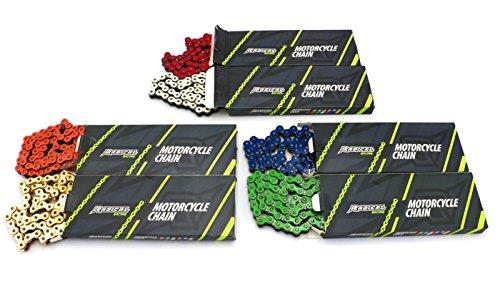 Radical Racing verstärkte grüne Antriebskette - Teilung 420, Länge 134 Glieder - Kette mit Kettenschloss für Mopeds, Motorrad, Quad, ATV, Derbi, Aprilia, Yamaha, KTM, Rieju