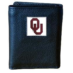 Oklahoma Sooners Genuine Leather Tri-fold Wallet