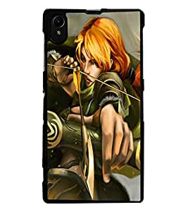 ColourCraft The Archer Design Back Case Cover for SONY XPERIA Z1