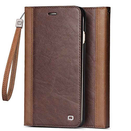 546404e4279 iPhone 6,6s Plus Wallet Stand Case, QIALINO Slim Genuine Leather Flip Cover,