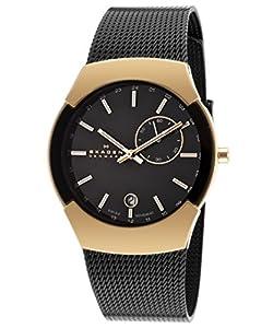 Skagen 983XLRBB - Reloj de pulsera hombre, acero inoxidable, color negro de Skagen