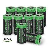 Batteriol CR123A Lithium Batterie Akku 3V 1600mAh Fotobatterie Nicht Wiederaufladbare für Taschenlampe, Kamera, Camcorder, Spielzeug Fernbedienung, 12-er Pack