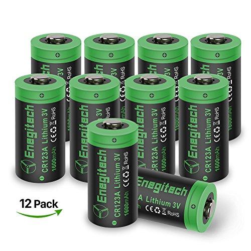 Batterio Piles CR123A Lithium Type 123 3V 1600mAh Batterie Non Rechargeables pour les Jouets à Distance de Lampe de Poche et Plus, Pas pour La Caméra Arlo, 12 Pack