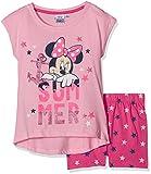 Disney Minnie Mouse Mädchen Schlafanzug 2tlg, Gr. 128 (Herstellergröße: 8Y/128CM), Rosa (Pink 001)
