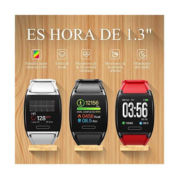 HalfSun Impermeable IP67 Smartwatch, HD Color Screen,Pulsera Inteligente con Pulsómetro, Monitor de Presión Arterial,Monitor de Calorías, Sueño, Podómetro,Pulsera Actividad para Android y iOS 3
