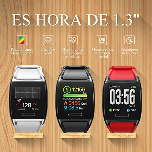 Imagen de halfsun impermeable ip67 smartwatch, hd color screen,pulsera inteligente con pulsómetro, monitor de presión arterial,monitor de calorías, sueño, podómetro,pulsera actividad para android y ios alternativa