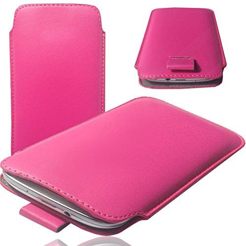 MOELECTRONIX Hülle für TP-Link Neffos C9A Tasche Schutz Case Etui Cover Smartphone Socke 1K Slim PINK 1 Pack Slim Case