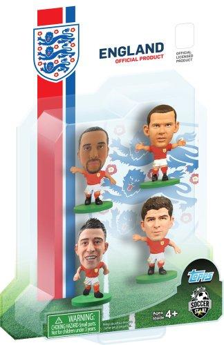 Soccer Starz England International 4Figur Blister mit Townsend/Cahill/Gerrard und Rooney in England Away Kit (rot) -