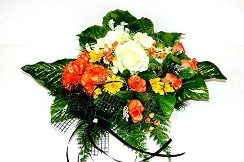 tatjana-land-deko Grabgesteck Grabschmuck Totensonntag Gesteck Allerheiligen Gedenken Rosen BR5-8