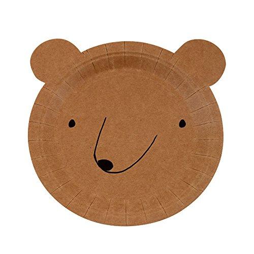 Party Teller Bär Form klein 12er Set Bären-teller