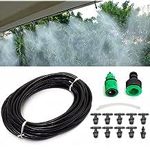 KING DO WAY Kit Irrigazione a Goccia Irrigatori Micro Goccia Sistema Irrigazione Vaporizzatore Impianto Ugelli Spruzzatore Nero