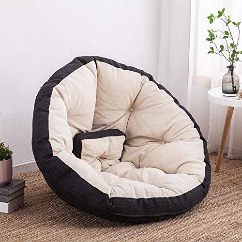 CMXSC Bequeme faul Couch einzelner Bohnenbeutelstuhl kleine Wohnung Schlafzimmer nettes Mädchen Tatami Sofa im Wohnzimmer-3-teiliges Set