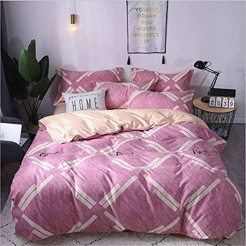 SHJIA Lace Bedding Set Größe Bettbezug Set Euporean Muster King Size Tröster Set E 220x240cm -
