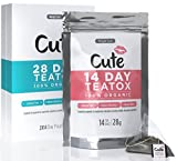 Premium Teatox - Organic Detox Tea Bags For Weight Loss - Caffeine and Laxative Free - Great Tasting Vegan Herbal Appetite Suppressant for Body Cleanse and Bloating - Free Detoxing eBook - 14 Day