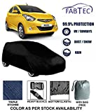 Fabtec Premium Quality Waterproof Car Body Cover with Full Bottom Elastic, Big Belt & Buckle for Hyundai Eon with Storage Bag Free! (Colour May Vary)