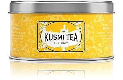 Kusmi Tea - Thé Bien-Être BB Detox - Mélange de Thé Vert, Maté et de Plantes, Aromatisé Pamplemousse - Mélange Conditionné en France - Idéal en Glacé - Boîte Métal 125G - Environ 50 tasses