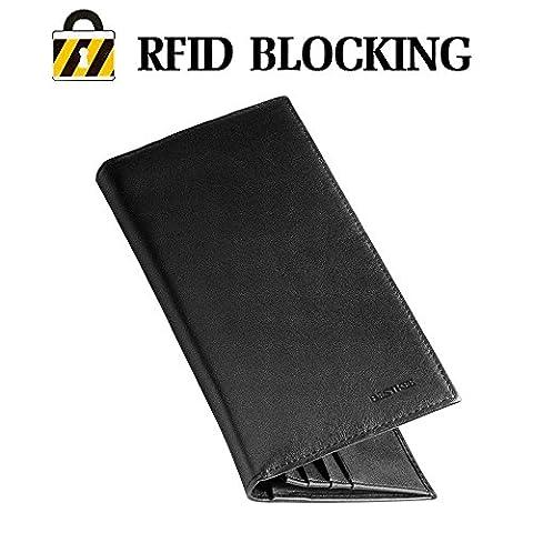 Portefeuilles Homme - Porte Feuille Noir Porte-cartes Porte-monnaie Pour Poches Pantalon ou Veste