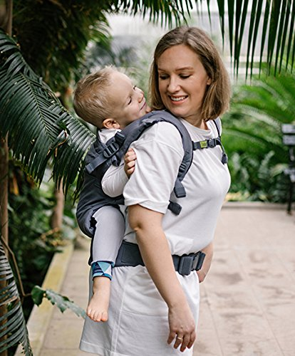 Boba X Adjustable Baby and Toddler Carrier - Front and Back Carrier - Grey  Boba