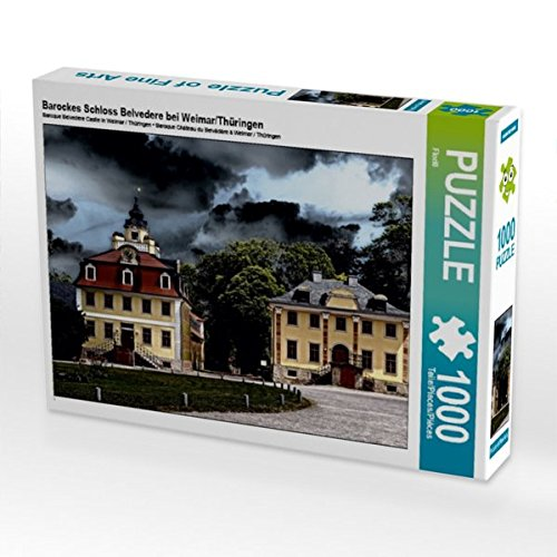 Barockes Schloss Belvedere bei Weimar/Thüringen 1000 Teile Puzzle quer (CALVENDO Orte)